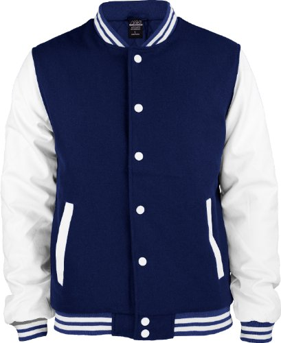 """Urban : """"Oldschool College Jacket"""" Size: XL, Color: navy-white …TB201"""