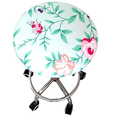 - YURASIKU Round Chair Cover 4pcs Bar Barbershop Stool Cover Elastic Seat Covers Home Chair Cushions Sleeve Stool Slipcover