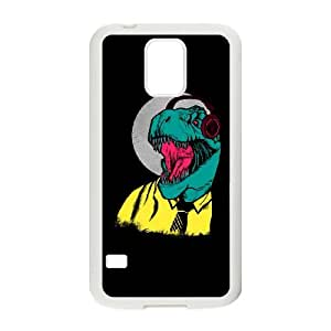 Samsung Galaxy S5 Cell Phone Case White Modern Dino EVQ Cell Phone Cases Clear Plastic