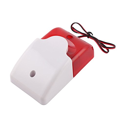 Uxcell Mini 12 Volt Security Wired Flash Replacement Alarm LED Strobe Siren  Light