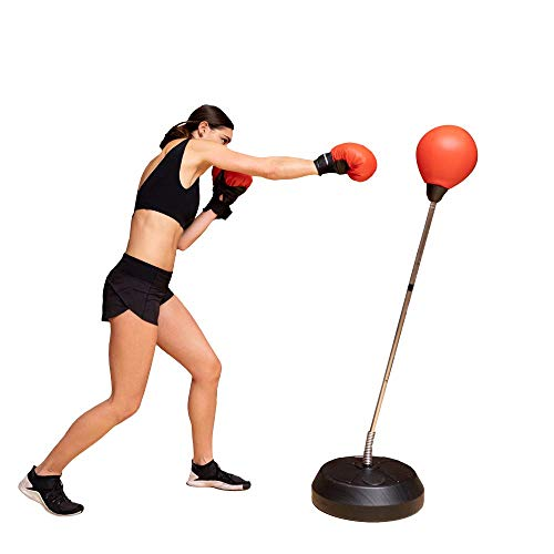 Protocol Reflex Punching Bag Set with Official Weight Boxing Gloves