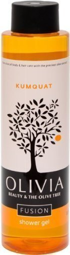 - Olivia Olive Beauty: Emollient Shower Gel with Organic Olive Fruit & Kumquat extracts, from Greece, 10.1 oz.