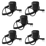 Retevis 2 Pin Handheld Remote Speaker Mic for Kenwood/Baofeng UV-5R/UV-5RA/888S Retevis RT27/H777/R888s/RT-5R/RT-6S Walkie Talkies (5 Pack)