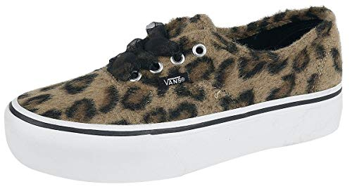 White Authentic Leopard Platform Sneakers Esp True Donna Vans HOzxgBwH