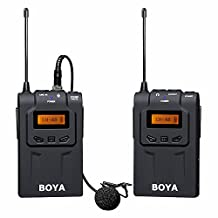 BOYA BY-WM6 UHF Professional Omni-Directional Wireless Lavalier Microphone System for Canon 6D 600D 5D2 5D3 Nikon D800 DSLR Camera Sony Panasonic Camcorders