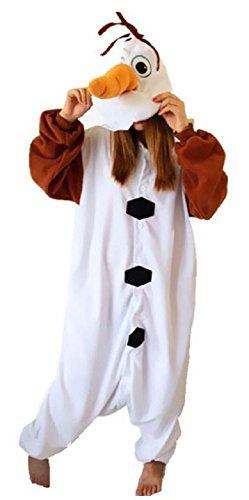 Olaf Onesie Costume (Bettyhome Adult Anime Unisex Pyjamas Kigurumi Halloween Olaf Onesie Costume (L Size (Height: 65