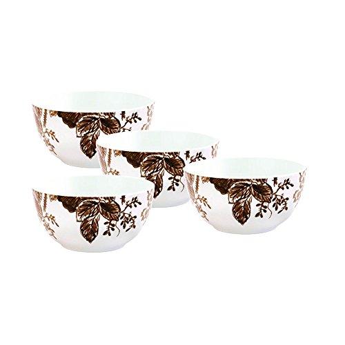 (Paula Deen Signature Dinnerware Tatnall Street 4-Piece Cereal Bowl Set, Coffee Bean)