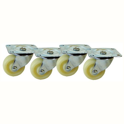 VMP ER-CASTERS Headend Equipment Rack Casters for the ER-1 and ER-148 (Ivory) by Video Mount Products