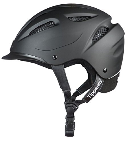 Tipperary Western Riding Helmet Low Profile Horse Safety Matte Black (Large)