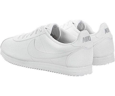 Nike Kids Cortez (GS) White/White Wolf Grey Casual Shoe 7 Kids US Photo #4