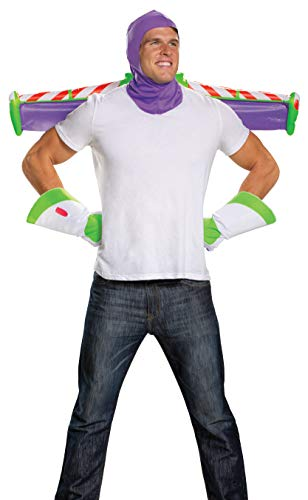 Disguise Men's Disney Pixar Toy Story and Beyond Buzz Lightyear Adult Costume Kit, White/Purple/Green/Red, One