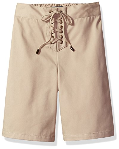 CHEROKEE Big Girls' Uniform Twill Shorts, Khaki Lace, 16