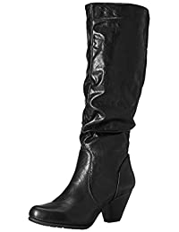 Cliffs by White Mountain Women's Petal Slouch Boot, Black, 8.5 US/8.5 M US