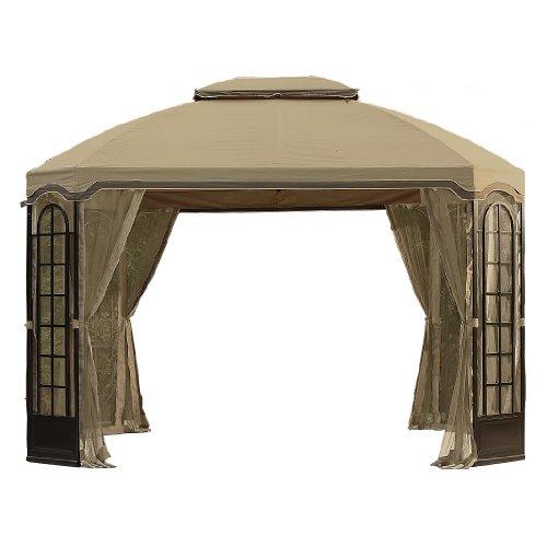 Garden Winds Terrace Gazebo Replacement Canopy and Netting - RipLock 350