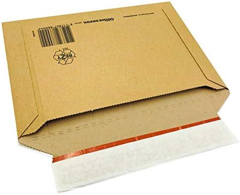 Sobre de envío (DIN B4, 360 x 250 x hasta 30 mm, 100 unidades, cartón ondulado), color marrón: Amazon.es: Oficina y papelería