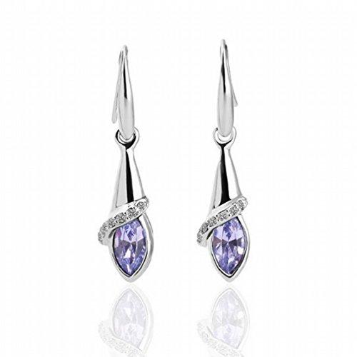 MOMO Femmes / Acier Inoxydable / Anti-allergique / Argent Brillant / Diamant / Cristal Transparent / Crystal Element Drop Earrings