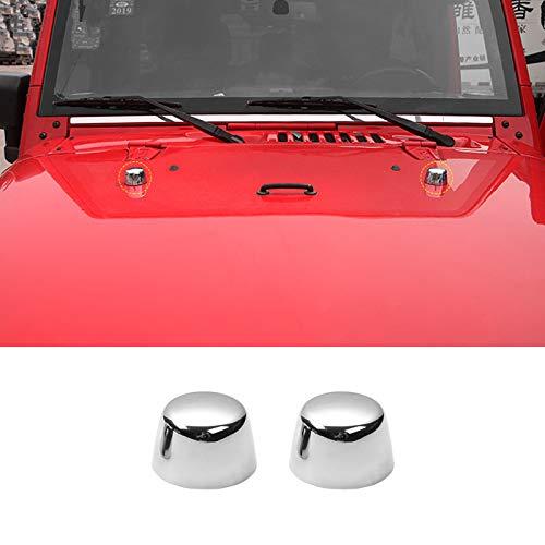 Highitem Chrome ABS Car Exterior Front Engine Hood Rubber Cap Decoration Cover Trim Stickers for Jeep Wrangler 2007-2017