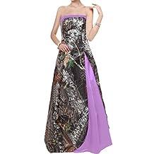 Gorgeous Bridal Long Camo Wedding Dress Simple Bridesmaid Dress Chic Custom