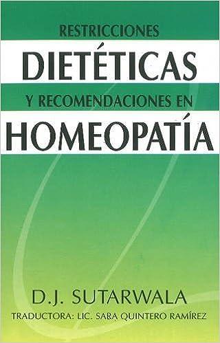 Libros en pdf gratis para descargar Restricciones Dieteticas Y Recomendaciones En Homeopatia 8180563723 PDF
