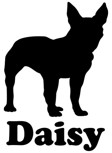Minglewood Trading Boston Terrier Dog Vinyl Decal Sticker with Custom Personalized Name 5.5