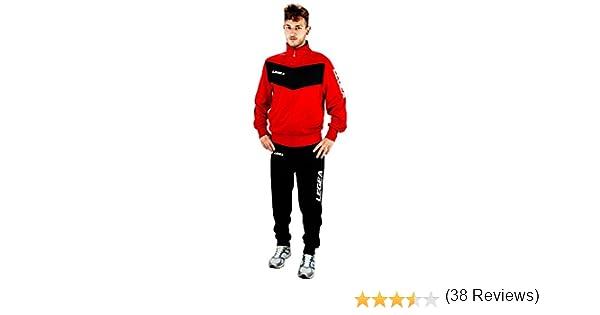 Legea Baltimora T090 - Chándal deportivo, rojo y negro: Amazon.es ...