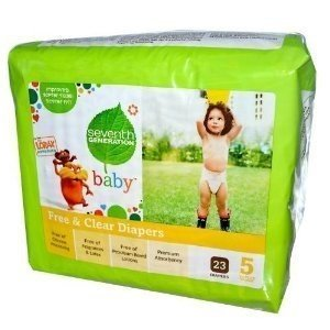 SEVENTH GENERATION BABY DIAPER,STG 5,27+LB, 23 CT by Seventh Generation