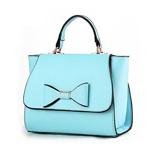 Tote Bag Leather Handbag YB029 Women Women's Totes NiaNia Blue nwqzg