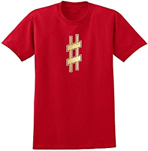 Music Notation Sharp Symbol - Red Rot T Shirt Größe 87cm 36in Small MusicaliTee