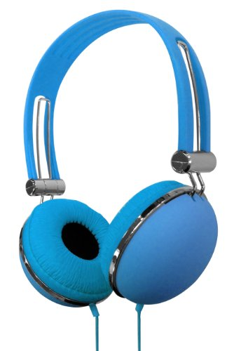 VIBE VS-830-DJ-BLU Soft Touch Headphones by Vibe
