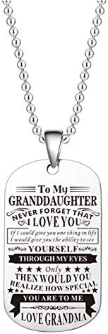 Granddaughter Grandmother Gifts To My Granddaughter Love Grandma Necklace Family Birthday for Granddaughter Gr