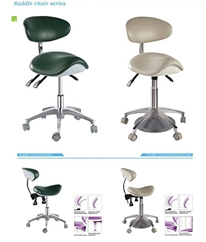APHRODITE Standard Dental Mobile Chair Saddle-1 Doctor's Stool PU Leather Dentist Chair from Aries Outlets by Aphrodite (Image #2)