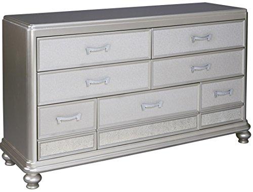 Ashley Coralayne 7 Drawer Dresser In Silver