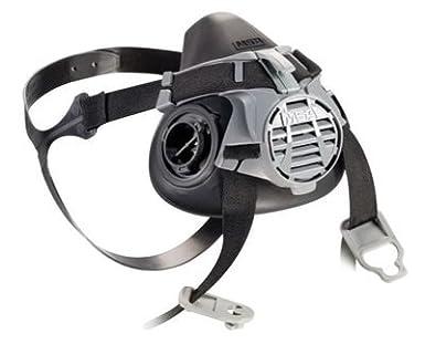 MSA mediano negro líquido de silicona/nailon ventaja® 420 mitad máscara mascarilla con correa