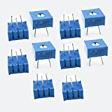 3386P-1-203 20K Ohm Through Hole DIP Mounted Trimmer Potentiometers 10 Pcs