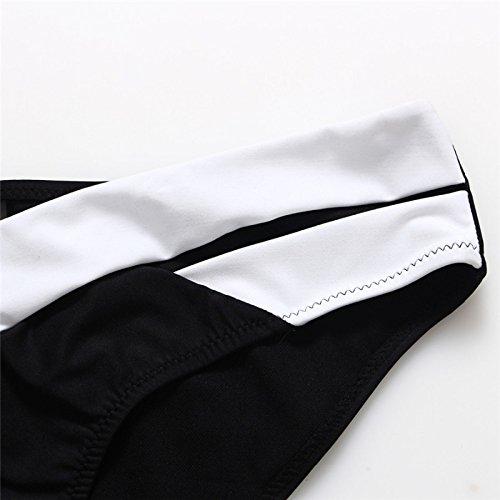 YONGYI La Sra europeos y en blanco y negro hit color de los cordones correas cruzadas de moda playa del bikini del verano atractivo de la moda estadounidense señoras atractivas del bikini traje de bañ