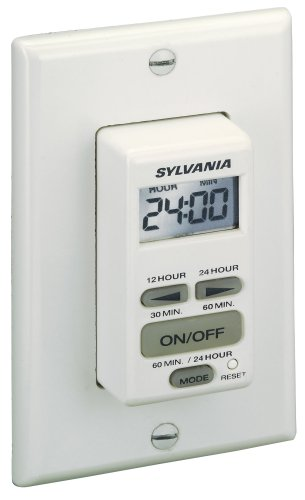 Minute Auto Shut Off Timer - Sylvania SA160 20 Amp Dual Mode 24-Hour/60 Minute Digital Auto Shut Off Timer