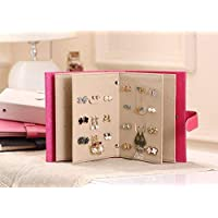 Travel Portable Jewelry Box Jewelry Storage Earrings Box Creative Collection books