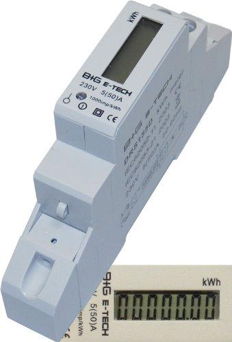 2 opinioni per B+G E-Tech DRS155D- Contatore per corrente alternata, digitale, LCD, 5(50)A per