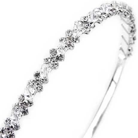 Ecloud Shop/® Serre Tete Soiree//Mariage Plaque dargent Cristal Decoration