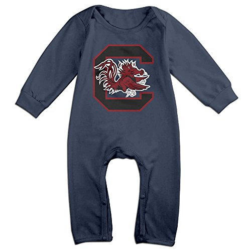 Price comparison product image OOKOO Baby's University Of South Carolina Gamecocks Bodysuits Outfits Navy 12 Months
