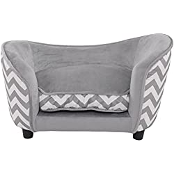Giantex Pet Sofa Ultra Plush Snuggle Soft Warm Dog Puppy Sleeping Bed w/ Cushion Gray