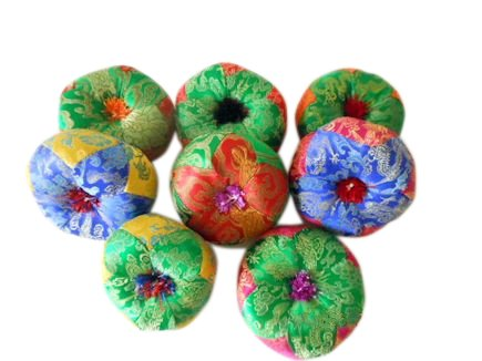 Handmade Nepalese Tibetan Bowl Cushioned Pillow - SMALL