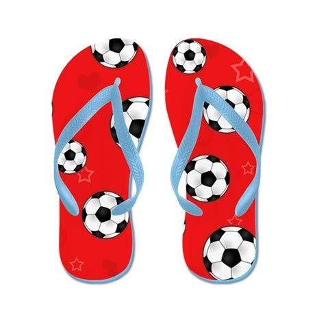 Lplpol Flip Flops for Adults L with Blue Flip Flops Belt