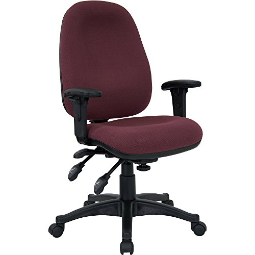 Mid-Back Multi-Functional Swivel Computer Chair Burgundy price