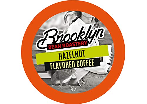 Brooklyn Beans Hazelnut Coffee Pods for Keurig K Cups Coffee Maker, 40 Count