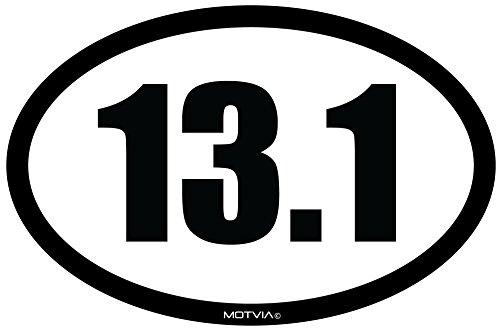 Motvia 13.1 Half Marathon Oval Car Magnet ()