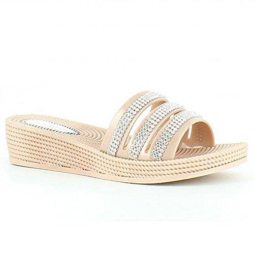 Heavenly Feet - Sandalias de vestir para mujer oro rosa