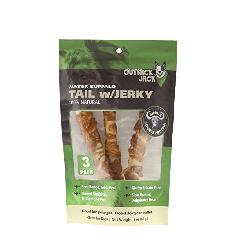 Outback Jack Water Buffalo Tails With Jerky 100% Natural Dog Treats ( 3 Pack) ()