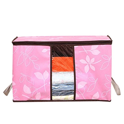 Storage Organization/Designer Flower Printed Quilt Storage Bags/See-through Collapsible Storage Bags - Wall Mount Quilt Rack