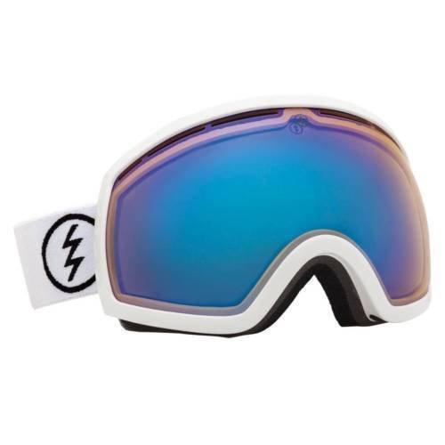 - Gloss White Electric Eg2 Gloss White Blue Oversized Ski Snowboard Goggles